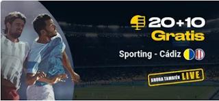 bwin promocion Sporting vs Cadiz 21 febrero 2020