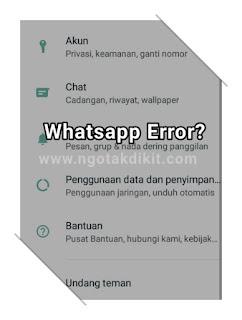 Kenapa Whatsapp Tidak Bisa Dibuka? Ini Cara Mengatasi WA Error