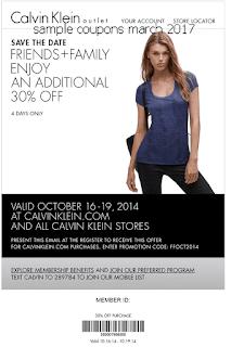 Calvin Klein coupons march