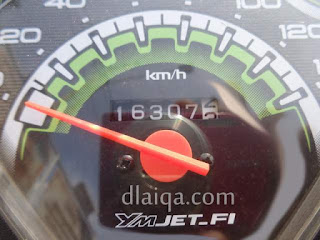odometer di titik akhir - Bandar Jaya