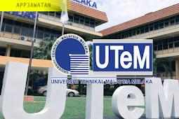 Jawatan Kosong di Universiti Teknikal Malaysia Melaka (UTEM) - 1 Mac 2019