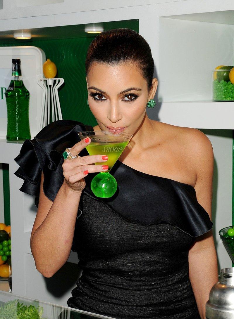 Actress Kim Kardashian At Midori Melon Liqueur Trunk Show