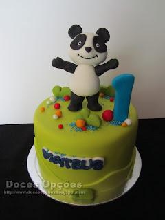 Bolo do 1º aniversário do Mateus com o Panda