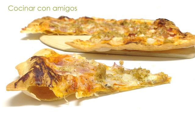 Masa de pizza casera cruijiente