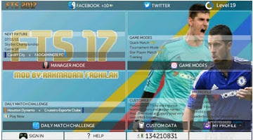 Download First Touch Soccer FTS 2017 Mod APK Data OBB Android Free