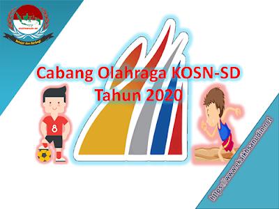Cabang Olahraga KOSN-SD Tahun 2020