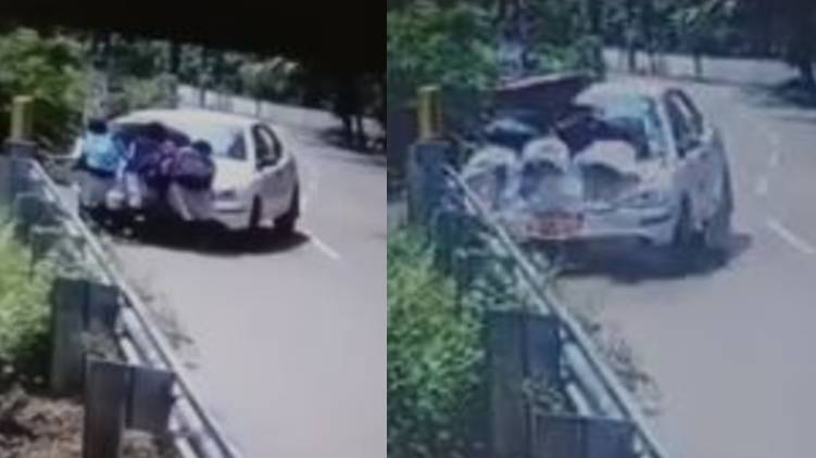 A high-speed car hit a student and smashed it,www.thekeralatimes.com