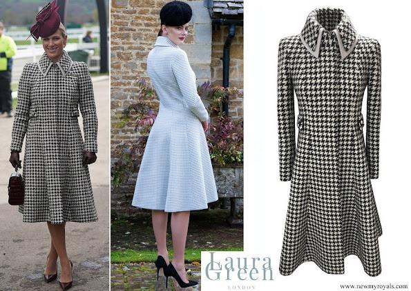Zara Tindall wore Laura Green London Antonia angora wool coat