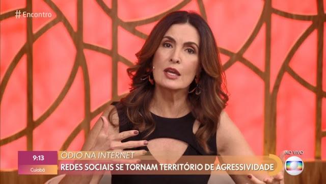 Fátima Bernardes detona ataques na web e condena ação de haters