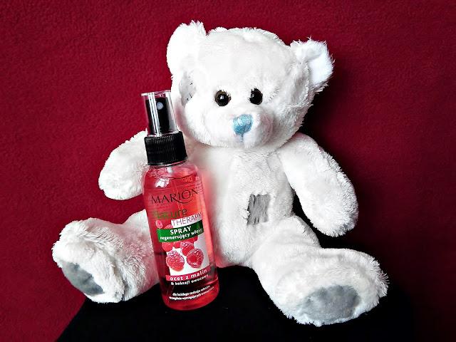 Marion, Nature Therapy - Spray regenerujący włosy, Ocet z malin & koktajl owocowy - Dla każdego rodzaju włosów, szczególnie wymagających wzmocnienia