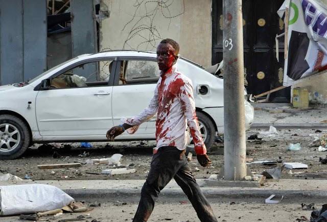 Terrorism : 20 Dead as 4 Car Bombs Explode Near Hotel in Somalia's Mogadishu