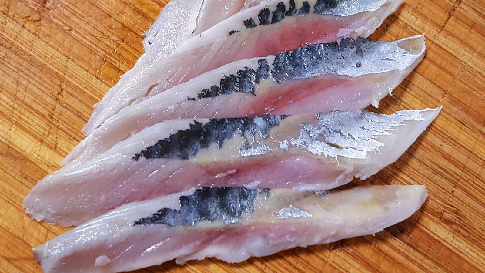 Shime Saba, maquereau mariné au vinaigre de riz