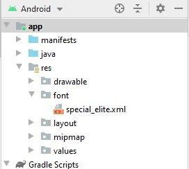 special elite xml in fonts folder