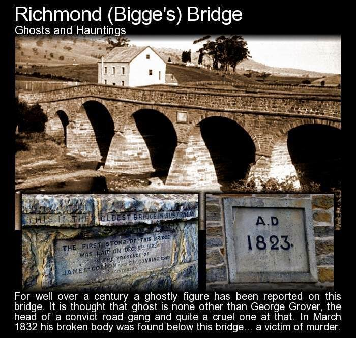 The haunted Richmond (Bigge's) Bridge in Tasmania