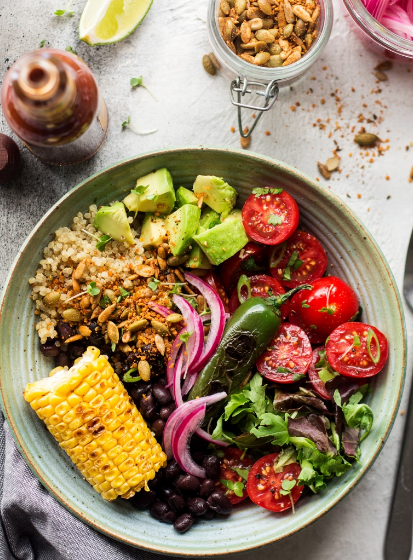 Mexican Lunch Bowl With Spicy Crumb
