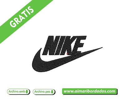 descargar gratis Logo NIKE con letras para bordar