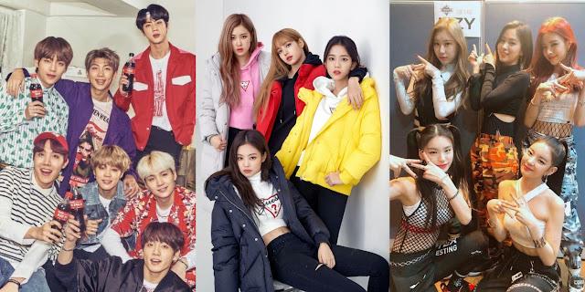 Peringkat Grup K-Pop Terpopuler Bulan Februari 2019