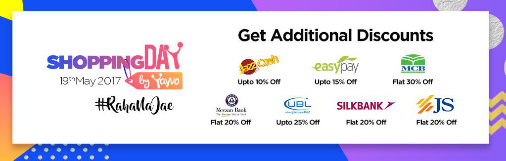 Major Banks and Telecom Companies offering Discounts Pakistan's First Ever Online Shopping Day
