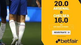 betfair supercuota Arsenal vs Chelsea 29 diciembre 2019