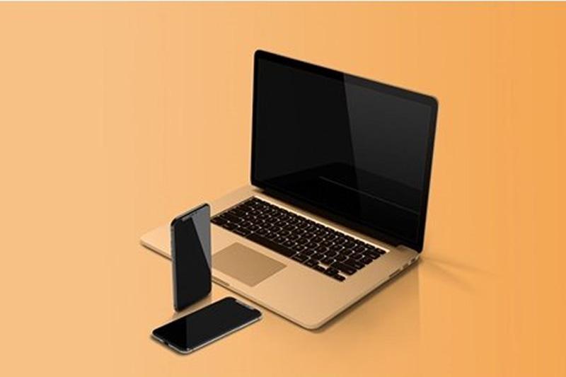 Macbook %2526 iPhone Mockup Free Download 1