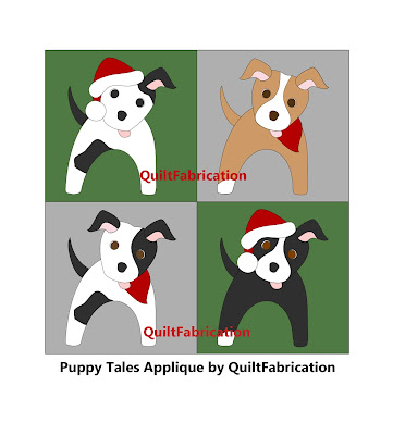 black, white, and golden puppies with a santa hat or bandana