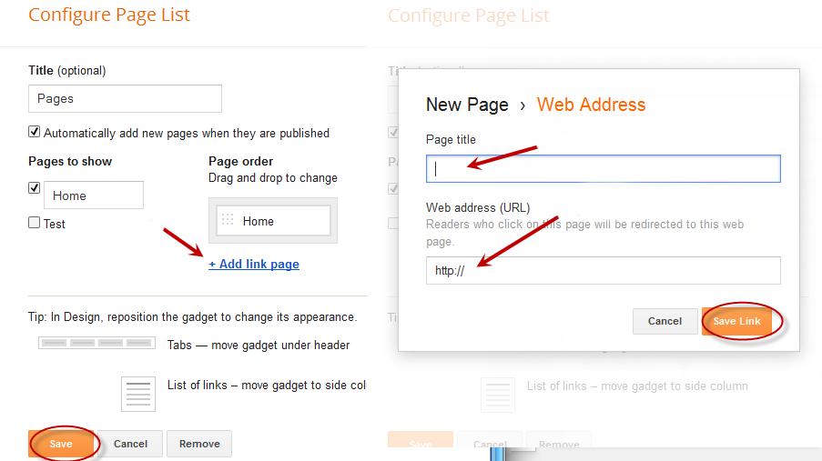 add web address, blogger tutorial