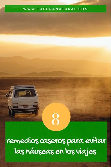 remedios caseros para evitar las náuseas en los viajes