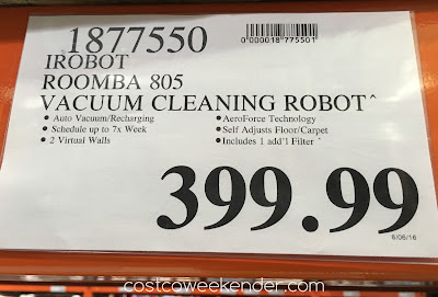 Deal for the iRobot Roomba 805 Vacuum Cleaning Robot at Costco
