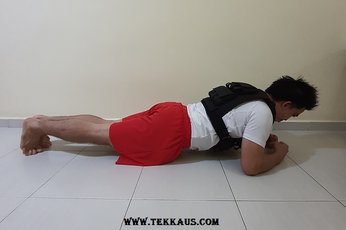 Adjustable Weighted Vest Exercise Workout Planking