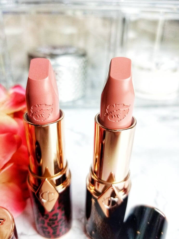 Charlotte Tilbury Hot Lips Lipstick 2 in Dance Floor Princess and JK Magic | Do They Live Up to the Hype? Embossed Bullet Detail