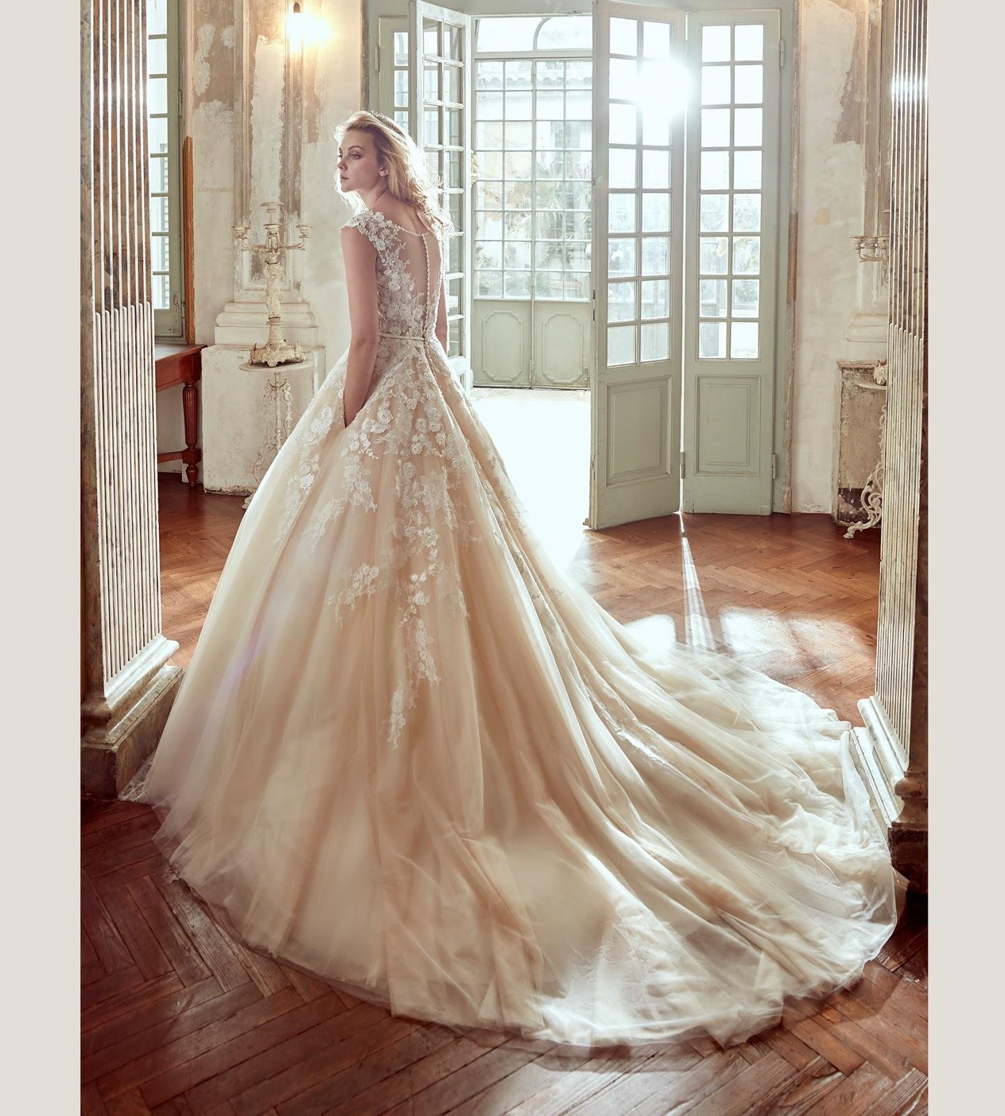 Abiti Da Sposa 2017 Rosa Cipria Per Nicole Spose