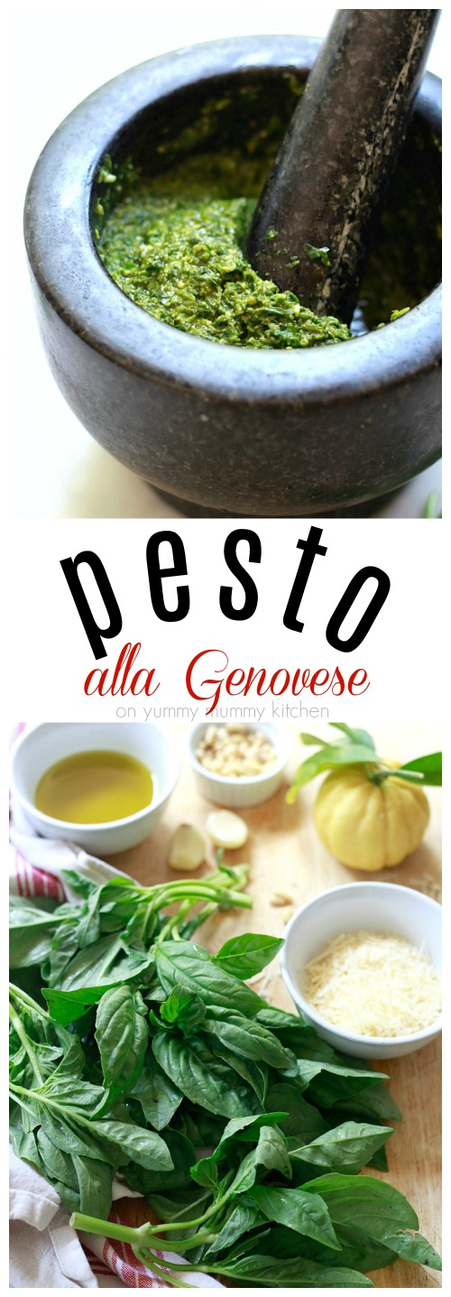 How to make pesto with a traditional Italian recipe and variations to make your pesto vegan, oil-free, with walnuts, and more!