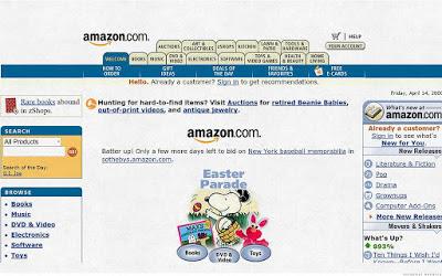 Website Amazon Jaman Dulu