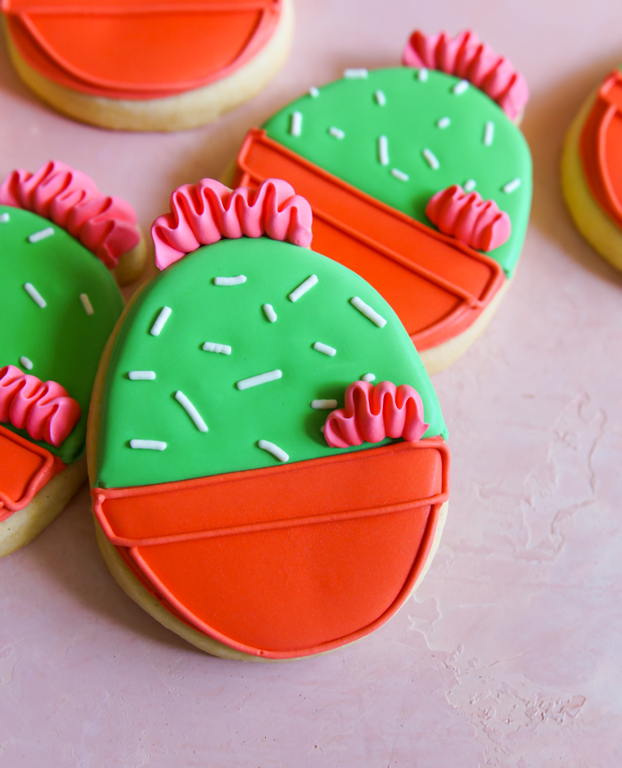 cactus easter egg cookies