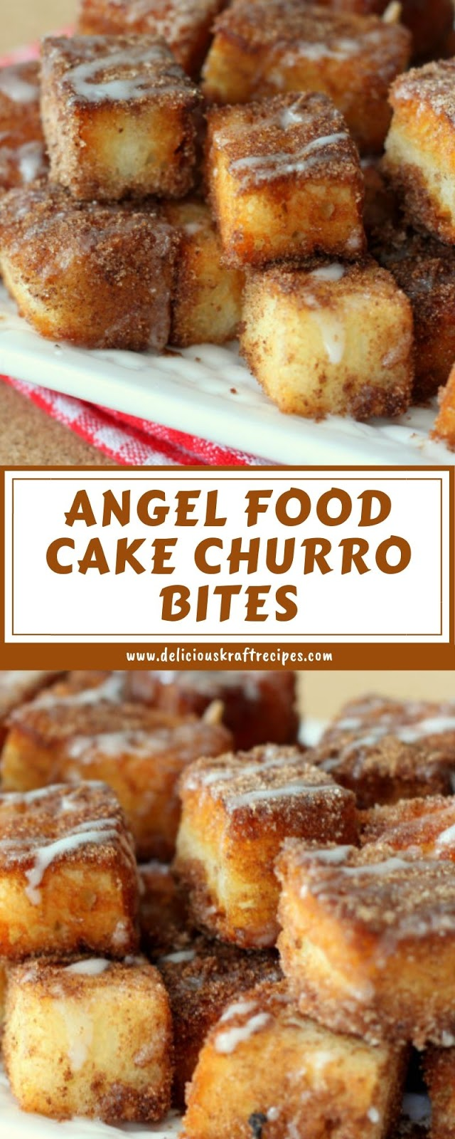 ANGEL FOOD CAKE CHURRO BITES
