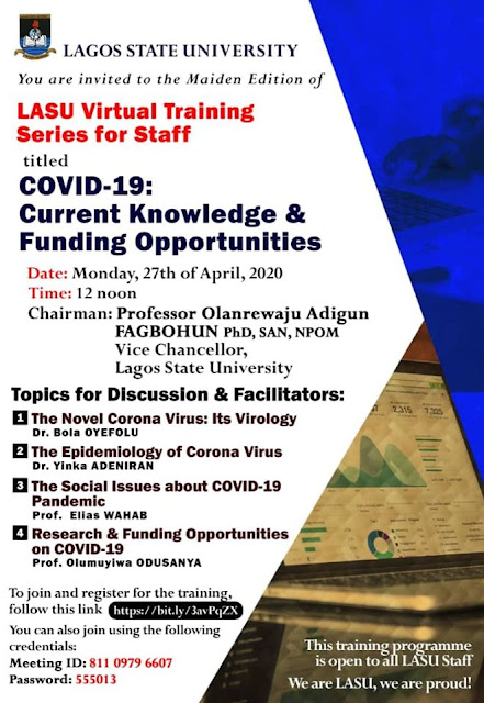 LASU Virtual Learning Training Series for Staff [Maiden Edition]
