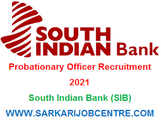 South Indian Bank PO Recruitment 2021 Apply Online