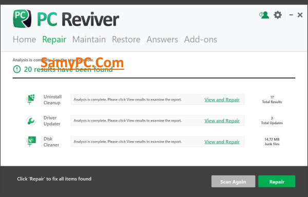 ReviverSoft PC Reviver Free Download Full Version