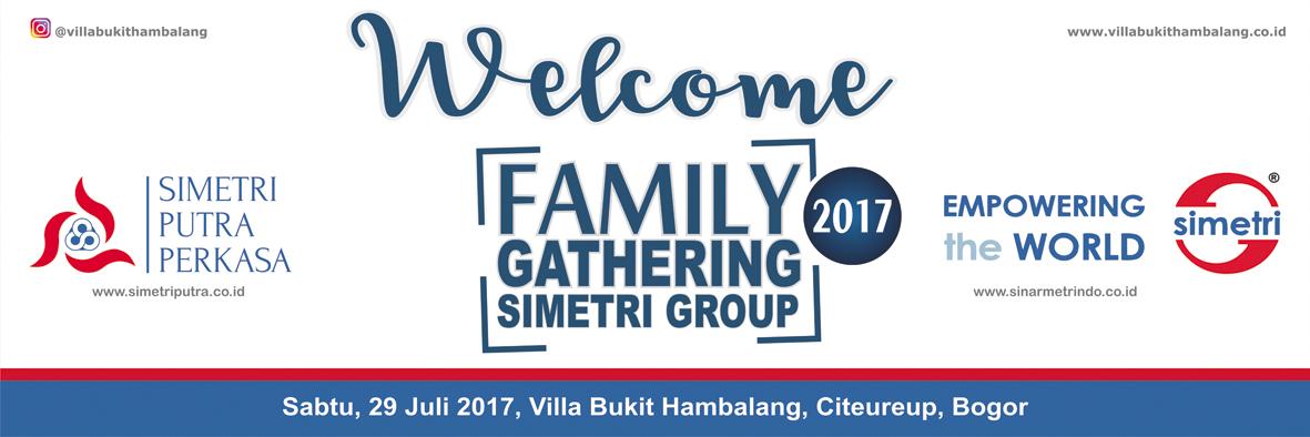 Contoh spanduk family gathering perusahaan