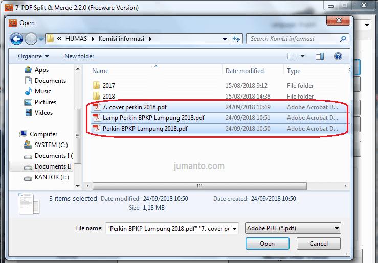 cara menggabungkan 2 file pdf jadi 1