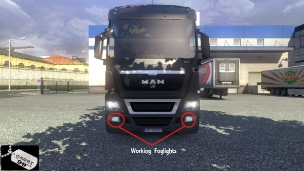 Working Foglights for ETS2 Trucks
