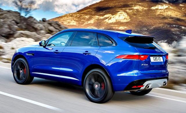 Jaguar F-Pace 2017 lado izquierdo azul