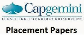 Capgemini Interview Experience Freshers - Placement Paper