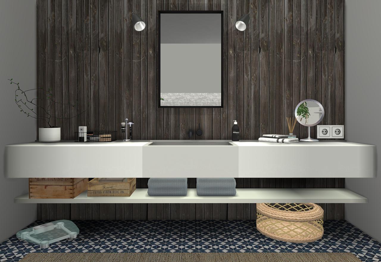 My sims 4 blog ms91 orama bathroom conversion by sanoysims for 3 4 bath