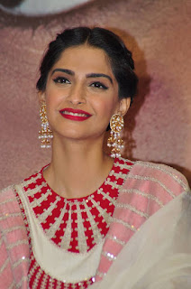 Actress Sonam Kapoor Pictures in White Salwar Kameez at Neeraja Movie Promotions  0001