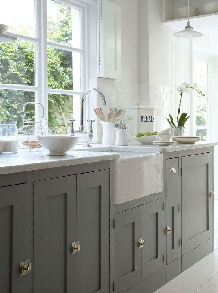 dark gray base cabinets
