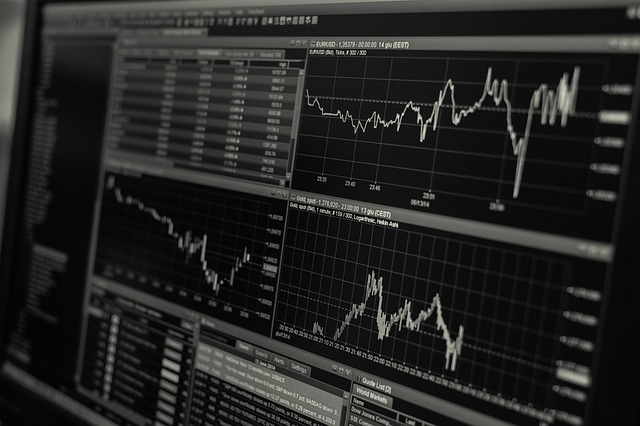 Stock Trading Monitor Business Finance Exchange