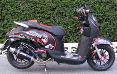 Modifikasi Scoopy Retro