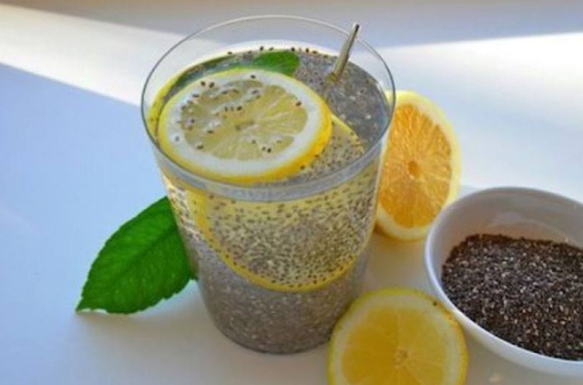 Chia Water Recipe To Purify Body & Reduce Fat #healthy #drink