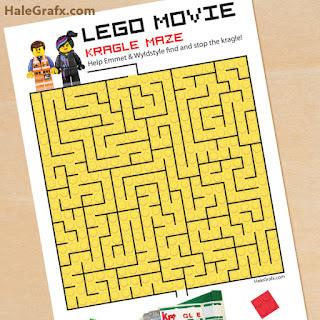 Laberinto para imprimir gratis de Película de Lego.